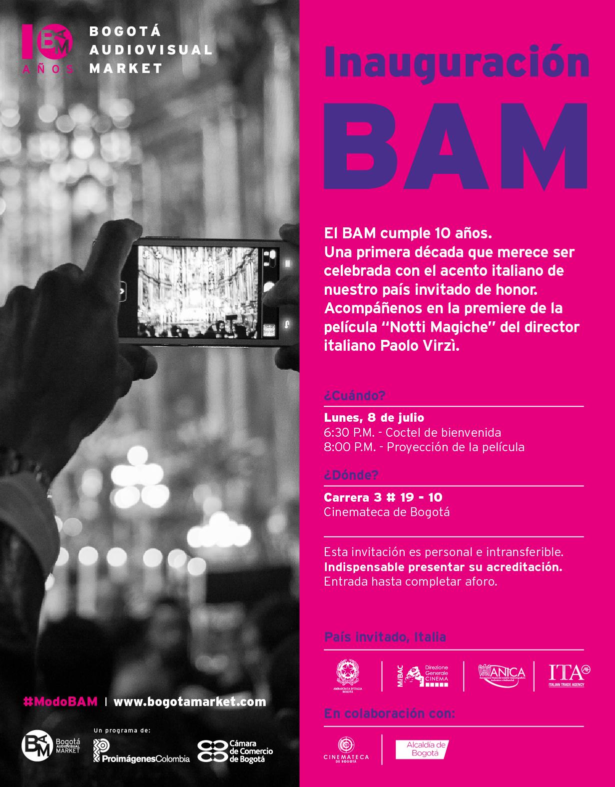 invitación inauguración BAM