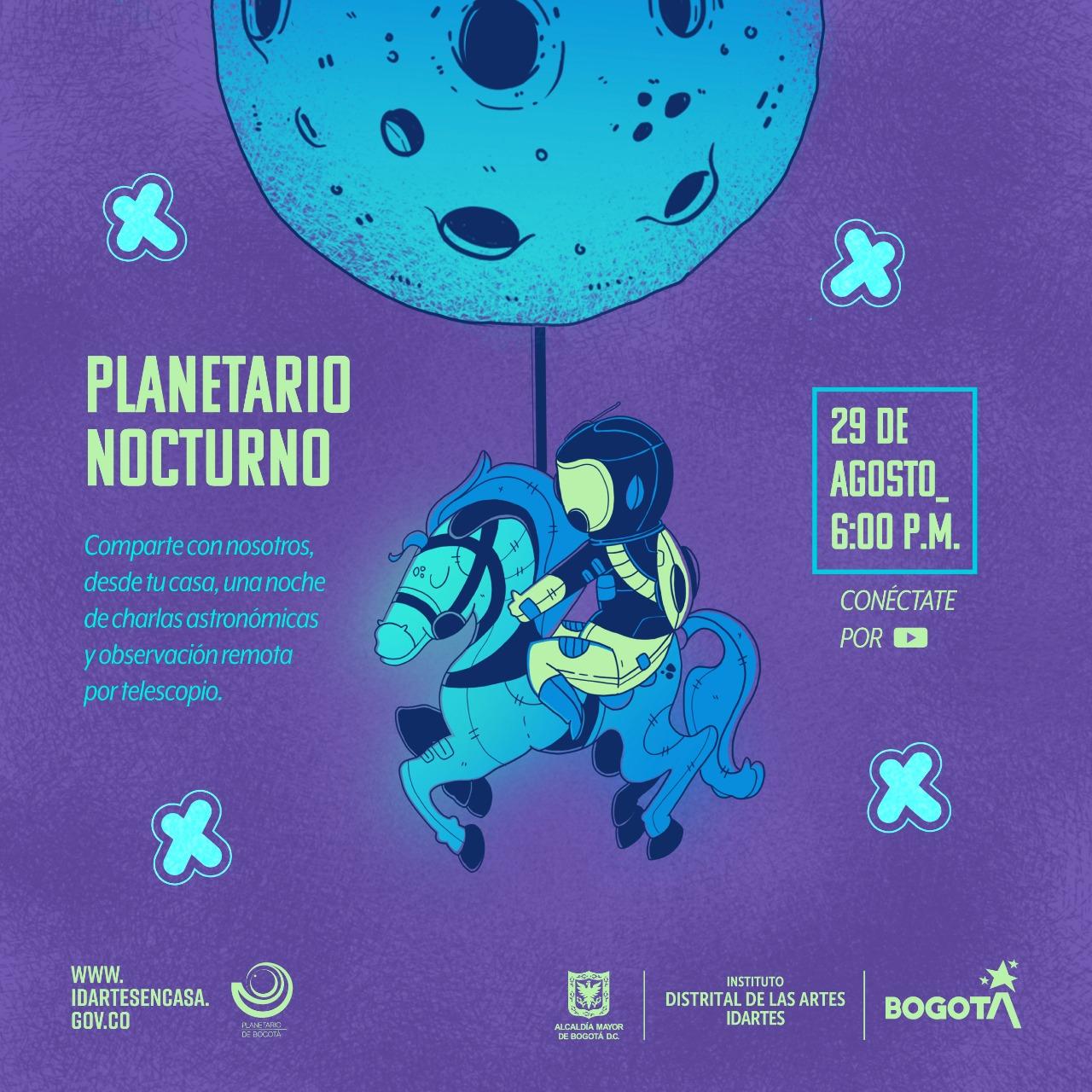Planetario Nocturno será virtual