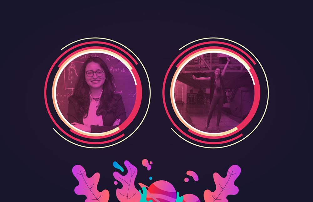 Astrónomas: Andrea Guzmán y Julia Seidel